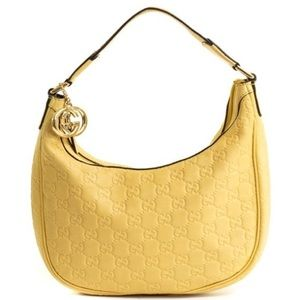 Gucci Guccissima yellow shoulder bag